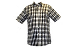 100% Cotton Yarn Dyed Check Short Sleeve Shirt